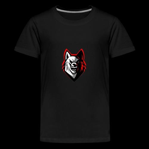wolf logo by supreme_gamer7 - Kids' Premium T-Shirt