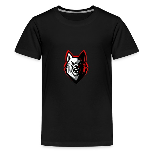 wolf logo by supreme_gamer7 - Kids' Premium T-Shirt