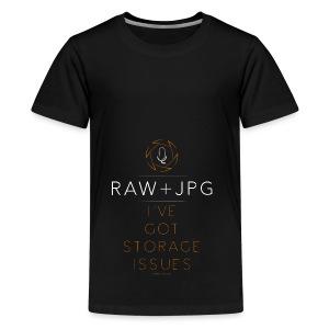For the RAW+JPG Shooter - Kids' Premium T-Shirt