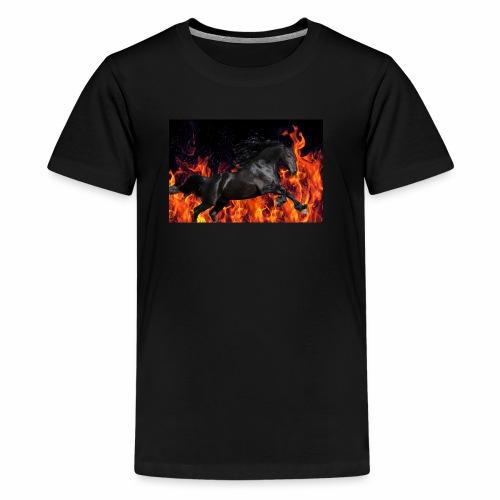Flaming stallion - Kids' Premium T-Shirt