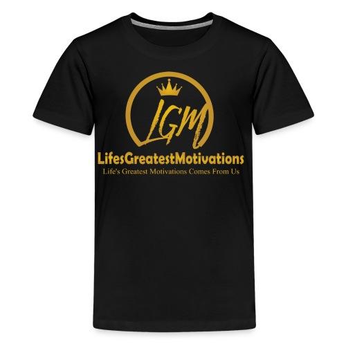 Lifesgreatestmotivation gold - Kids' Premium T-Shirt