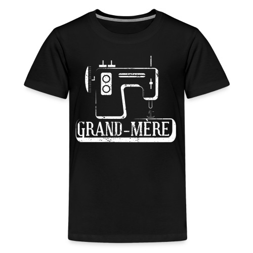Grand Mere French Grandma Cross Stitch Sewing Machine - Kids' Premium T-Shirt
