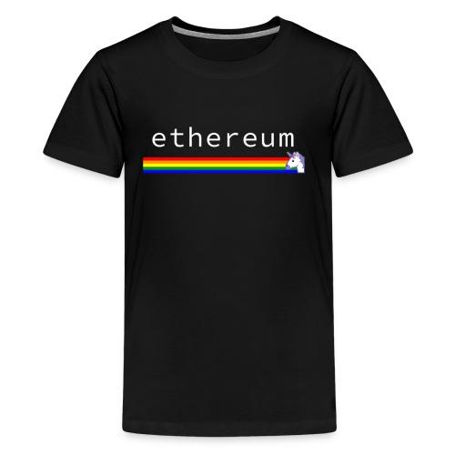 Ethereum Unicorn - Rainbow - Kids' Premium T-Shirt
