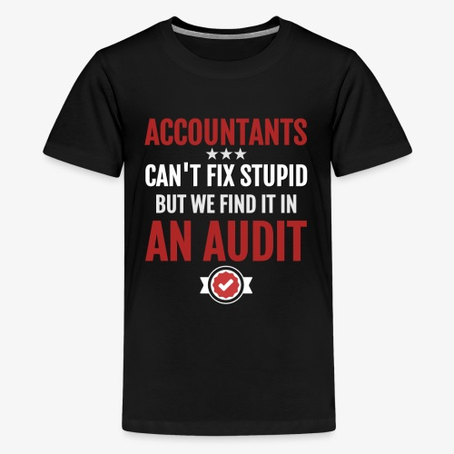 Accountants Can't Fix Stupid Audit Accounting - Kids' Premium T-Shirt