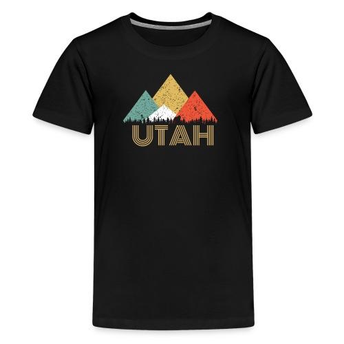 Secret Sasquatch Hidden Retro Utah Hiding Bigfoot - Kids' Premium T-Shirt