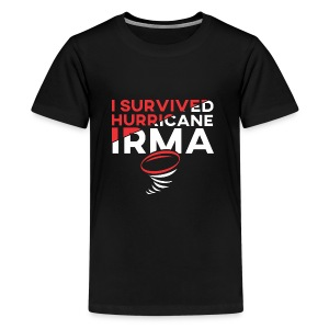 I Survived Hurricane Irma 2017- Men Women TShirt - Kids' Premium T-Shirt