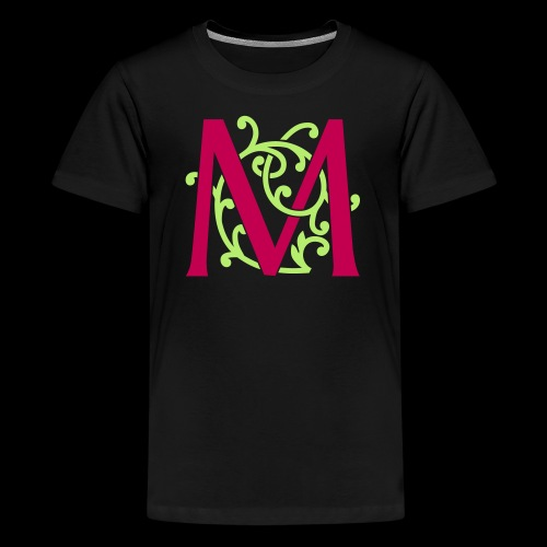 DIY FlexColor™ Monogram M • A4-2 – 2 Colors - Kids' Premium T-Shirt