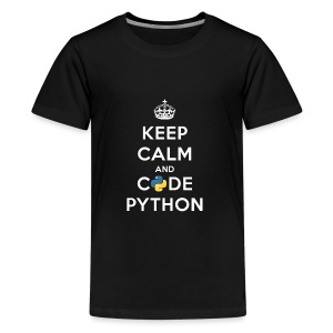 Keep Calm and Code on for Python Develop - Kids' Premium T-Shirt