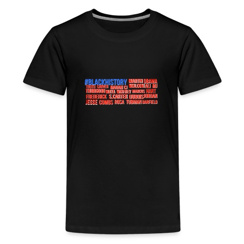 BLACK HISTORY MONTH AMERICAN FLAG - Kids' Premium T-Shirt