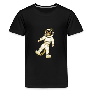 Outer-Space Astronaut Kitty - Kids' Premium T-Shirt