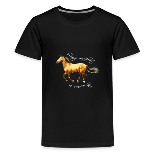 Never live without horse lover art polygon - Kids' Premium T-Shirt