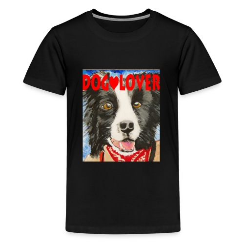 dog-lover border collie - Kids' Premium T-Shirt