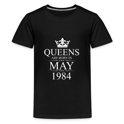 Queens Born In May 1984 34th Birthday Gift - Kids' Premium T-Shirt