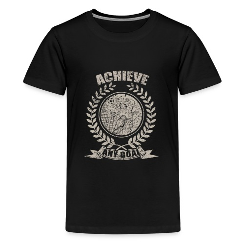 Achieve Any Goal Soccer Design - Kids' Premium T-Shirt