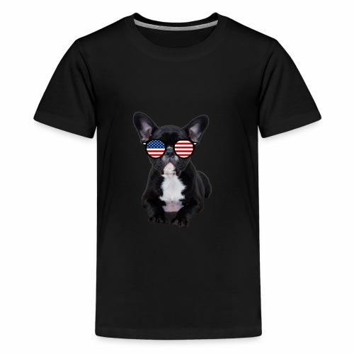 Funny 4th of July Patriotic USA French Bulldog - Kids' Premium T-Shirt