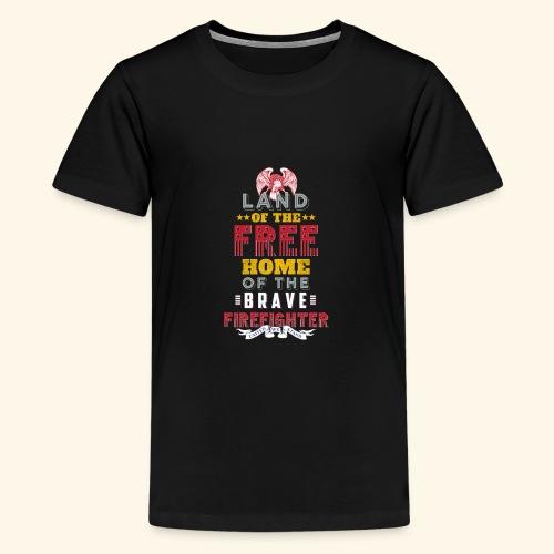 Patriotic Firefighter / American Firefighter - Kids' Premium T-Shirt