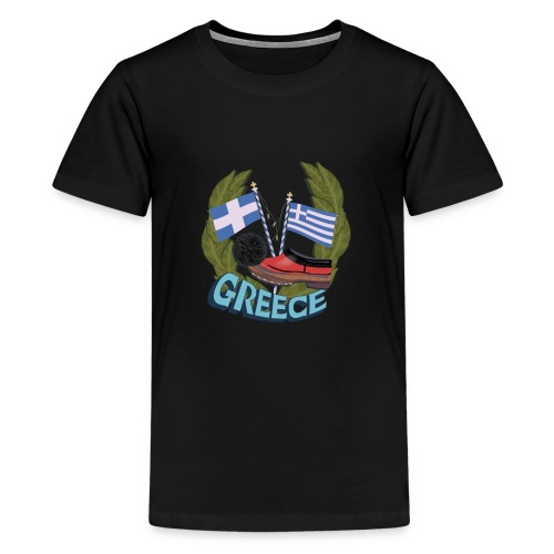 Tsarouchi - Greek traditional costume shoes. - Kids' Premium T-Shirt