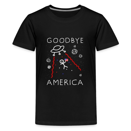 Goodbye America Alien Abduction Space Graphic - Kids' Premium T-Shirt