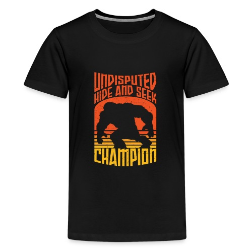 Bigfoot Funny Hide and Seek champion - Kids' Premium T-Shirt