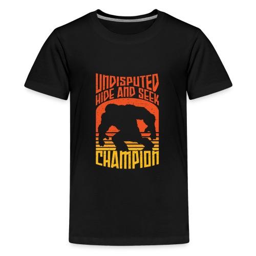 Bigfoot Funny Hide and Seek champion - Kids' Premium T-Shirt