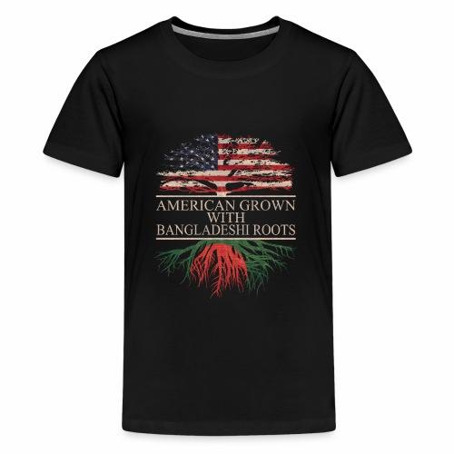 american grown with bangladeshi roots vintage - Kids' Premium T-Shirt