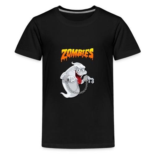Funny t-shirt zombie & Funny t-shirt halloween - Kids' Premium T-Shirt