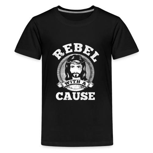 Rebel with a cause WHITE VINTAGE print - Kids' Premium T-Shirt