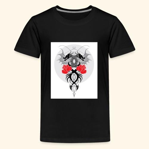 Dragons and Roses - Kids' Premium T-Shirt