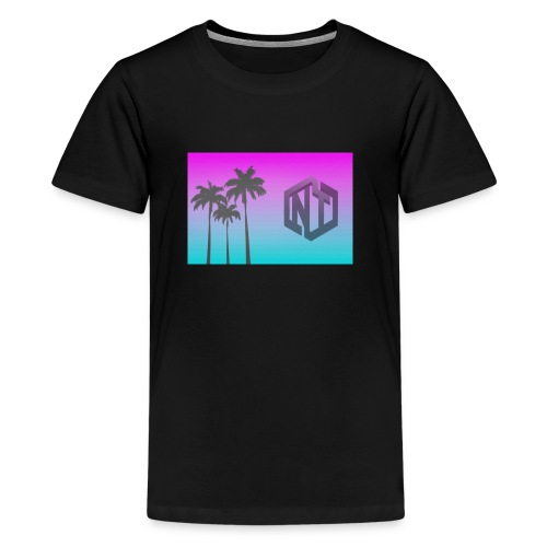 NayTendo Modern Palm Tree Logo Design - Kids' Premium T-Shirt