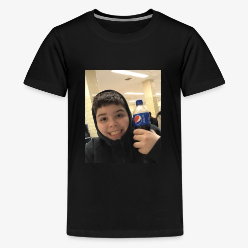 Sotiri with Pepsi Bottle smiling - Kids' Premium T-Shirt