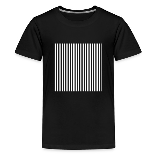 Black & White Stripes - Kids' Premium T-Shirt