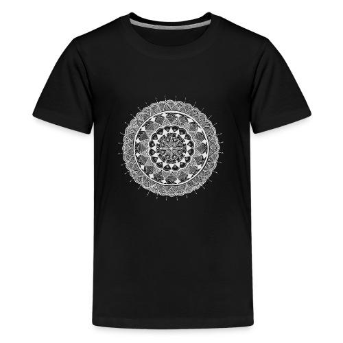 mandala white - new art - Kids' Premium T-Shirt