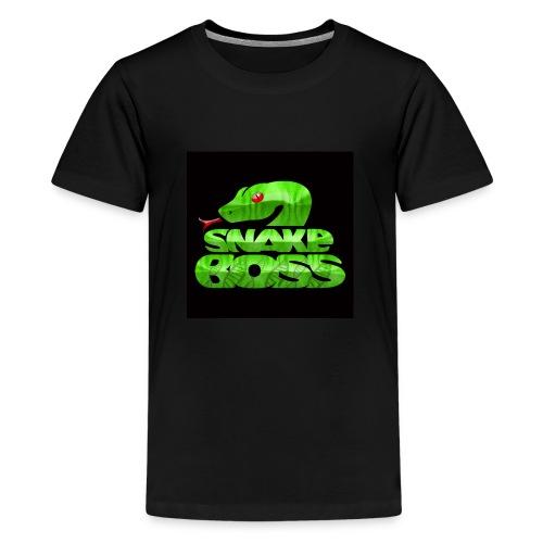 Snake boss black logo - Kids' Premium T-Shirt