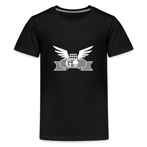 panel with wings (white) - Kids' Premium T-Shirt