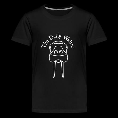 Walrus logo white - Kids' Premium T-Shirt