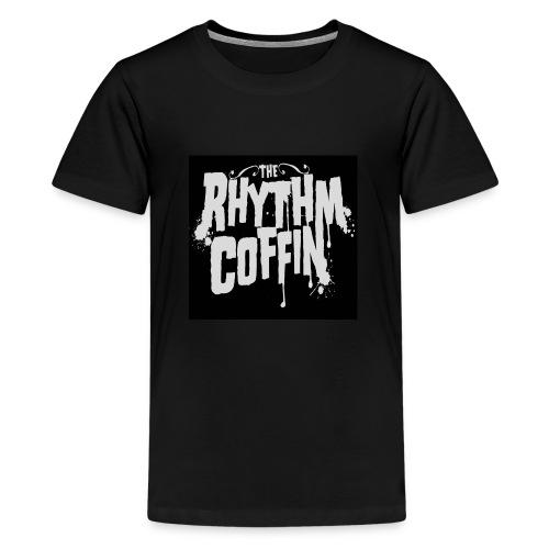 the rhythm coffin white logo - Kids' Premium T-Shirt