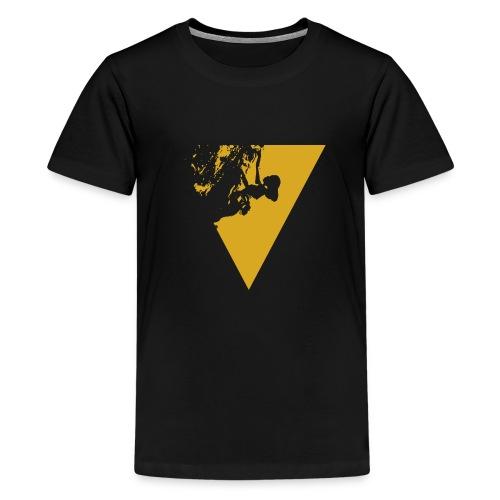female climber yellow - Kids' Premium T-Shirt