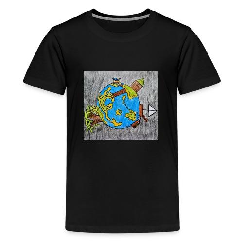 Beach World - Kids' Premium T-Shirt