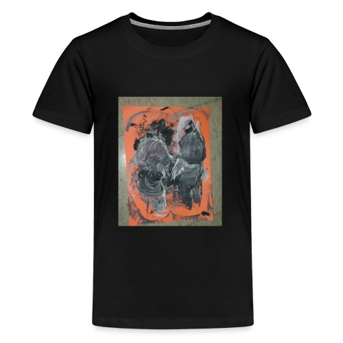 couple running from fire - Kids' Premium T-Shirt