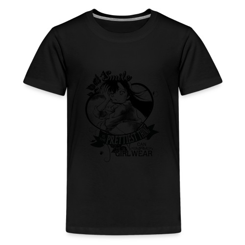 A SMILE is the prettiest thing-Ran Mori - Kids' Premium T-Shirt