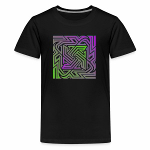 Purple/Green Matrix - Kids' Premium T-Shirt