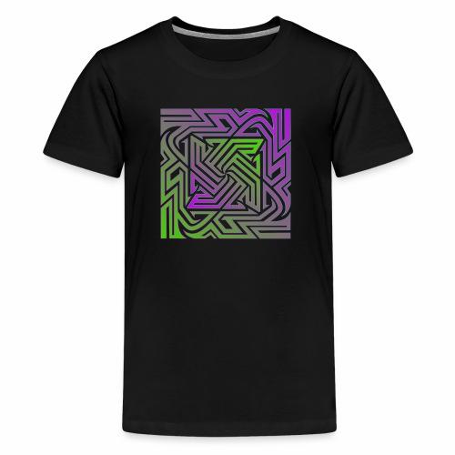 Purple/Green Matrix - Kids' Premium T-Shirt