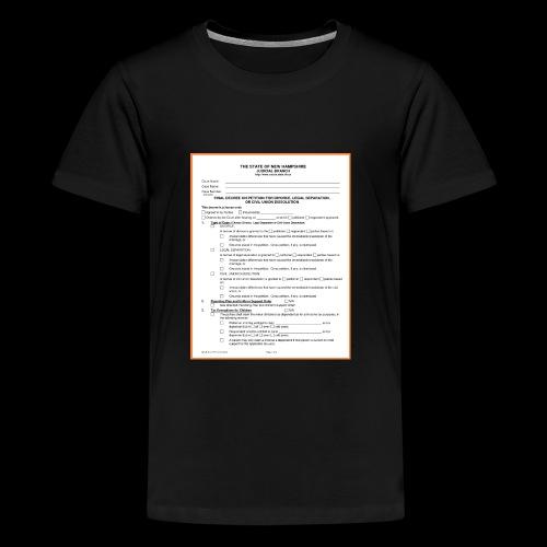 divorce papers - Kids' Premium T-Shirt