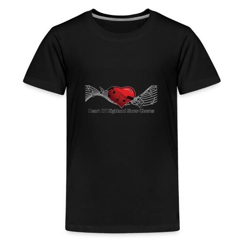Lg transparent logo on front HOH Show Chorus - Kids' Premium T-Shirt