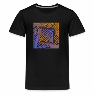 Blue\orange Matrix - Kids' Premium T-Shirt