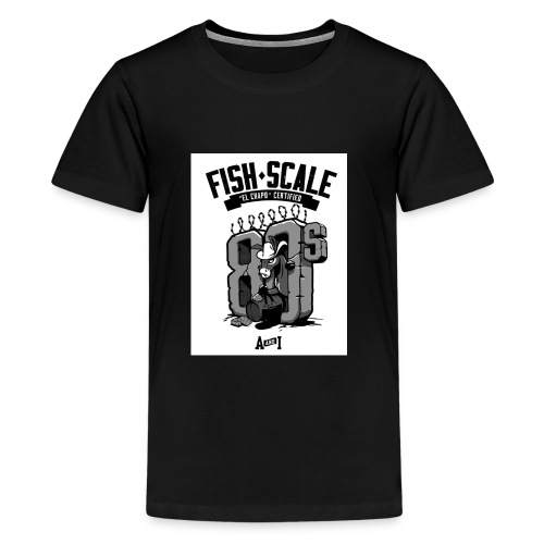 fish scale design - Kids' Premium T-Shirt