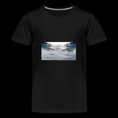 wolf_winter - Kids' Premium T-Shirt