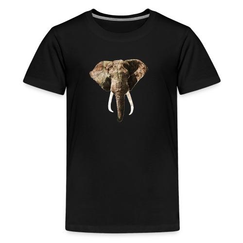 Elephant Geographic Head Illustration - Kids' Premium T-Shirt