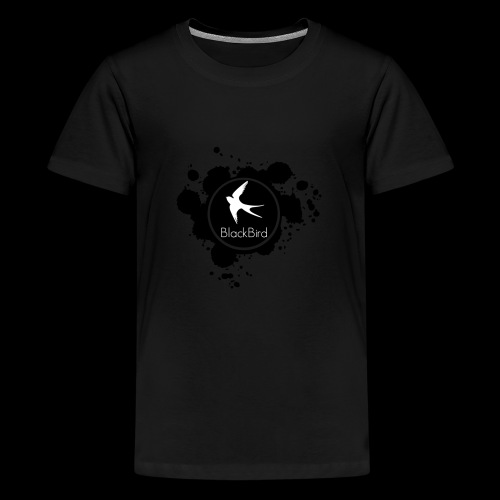 BlackBird Ink Spill Logo - Kids' Premium T-Shirt