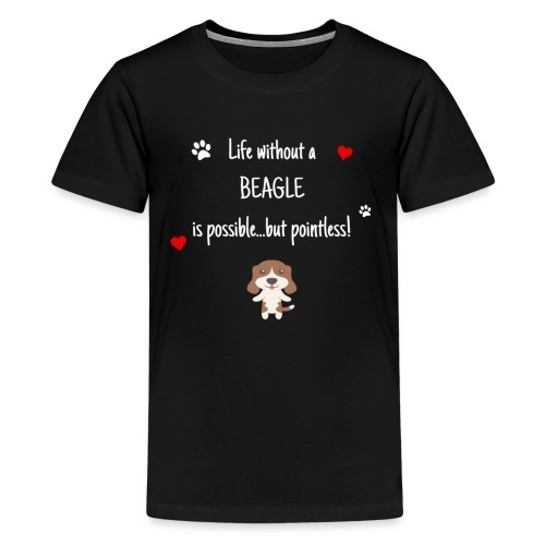 Life Without A Beagle Funny Cute Dog Gift Idea - Kids' Premium T-Shirt